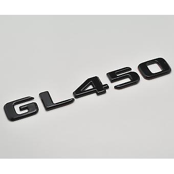 Glanz schwarz GL450 flach Mercedes Benz Auto Modell hintere Boot Nummer Buchstabe Aufkleber Aufkleber Abzeichen Emblem für GLClass X164 X166 X167 AMG