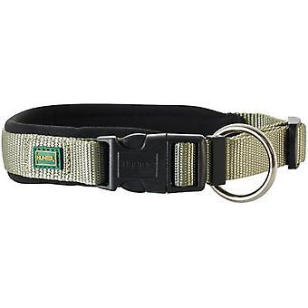 Hunter Neopren Vario Plus Nylonhalsband für Hunde grün und schwarz