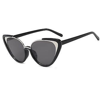 Stijlvolle zwarte 2020 metal cat-eye zonnebril voor vrouwen