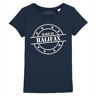 STUFF4 Girl's Round Neck T-Shirt/Made In Halifax/Navy Blue