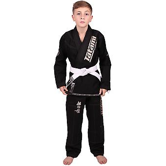 Tatami Fightwear Meerkatsu Kids Animal BJJ Gi - Black
