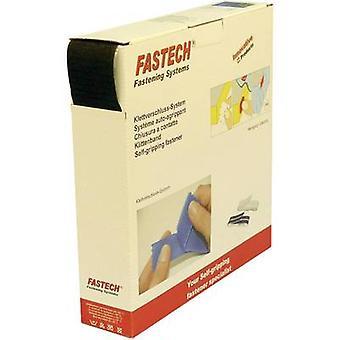 FASTECH® B50-SK-H-999925 Krok-och-slinga tejp stick-on (smältlim) Loop pad (L x W) 25000 mm x 50 mm Svart 25 m