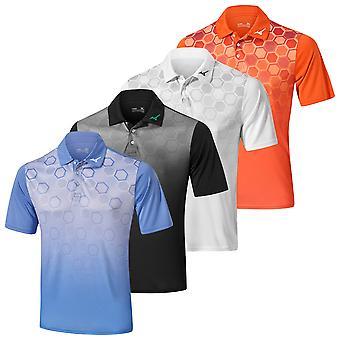 Mizuno Herre 2020 Gradient Sekskant kort ærme Letvægts Golf Polo Shirt