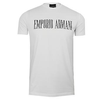 Emporio armani men's white crew neck t-shirt