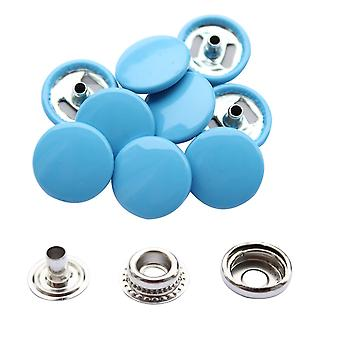 Hellblau 15mm 4, Teil Press Studs, Snap Fastener