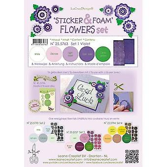 LeCrea Aufkleber & Schaum Blumen Set 1