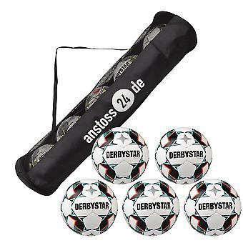 5 x DERBYSTAR Game Ball - BRILLANT APS incl. ball hose