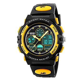 SKMEI Black And Yellow Sports Digital Watch 50m Water Resistant Dual Time Display AD1163