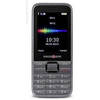 swisstone SC 560 mobiele telefoon met dubbele SIMKAART zwart