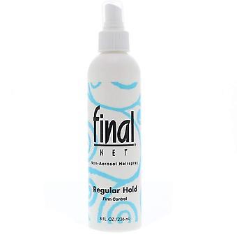 Laatste net hele dag houden hairspray, ongeparfumeerde, regelmatige hold, 8 oz