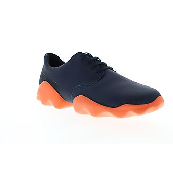 Camper Dub  Mens Blue Leather Low Top Lace Up Euro Sneakers Shoes