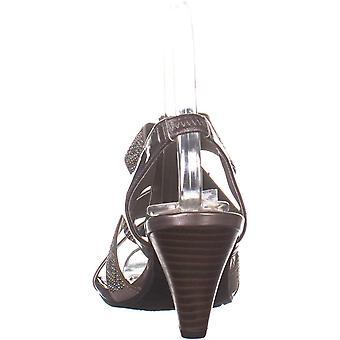 Karen Scott Womens Nicolle Fabric Open Toe Ankle Wrap Classic Pumps