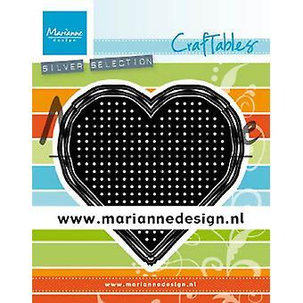 Marianne Design Craftables Cutting Dies - Cross Stitch Heart CR1482