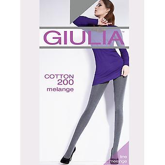 Giulia Cotton 200 Melange Tights - Hosiery Outlet