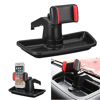 Universal 360 degree rotation car dashboard phone holder stand with storage box for mobile phone