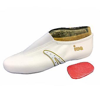 «Women's kunst sneakers met strass / wit / gouden» IWA-511 «(GR 34-43).