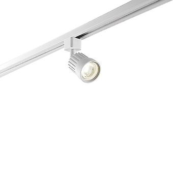 Saxby Lighting Pacto Integrated LED Track Head Light Only Matt White, Prismatic 78959