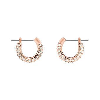 Swarovski Stone Rose Gold & Clear Crystal Earrings