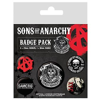 Sons of Anarchy Pin Button Rozetleri Seti