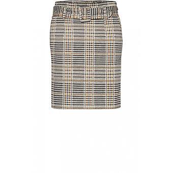 b.young Check Print Skirt