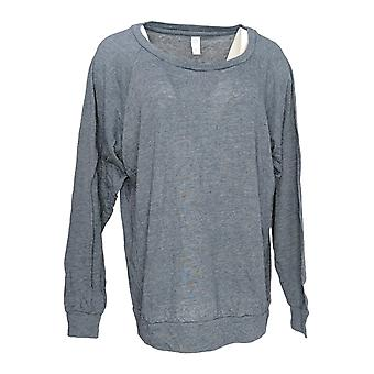 Alternative Apparel Women's Top Jersey Printed Pullover Gray A343355