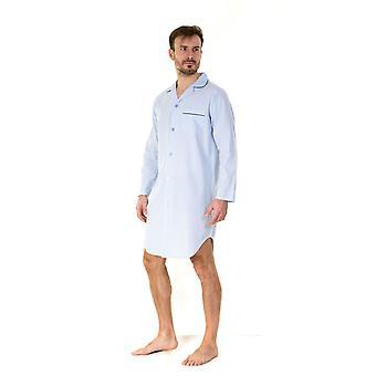 Haigman Mens Gift Boxed 100% Cotton Nightshirt Sleepwear - Stripe - X-Large