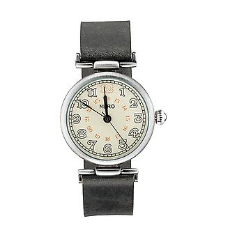 Nero 94 Gatsby Unisex Smoke Leather Strap Quartz Watch - Smoke