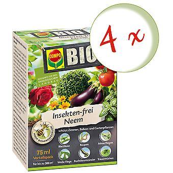 Sparset: 4 x COMPO BIO Insekten-frei Neem, 75 ml