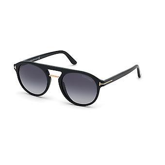 توم فورد إيفان-02 TF675 01W لامعة الأسود / الأزرق نظارات التدرج