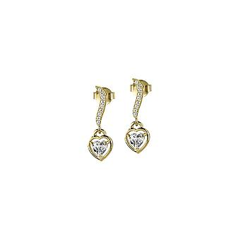 Jacques Lemans - Studs sterling silver plated with White Topaz - SE-O120F
