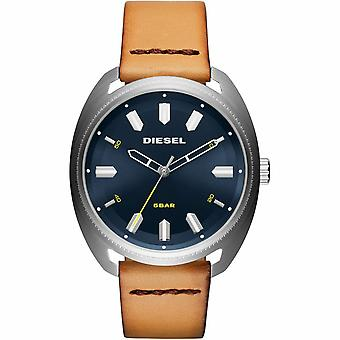 Diesel DZ1834 Fastbak Blue Dial Light Brown Leather Men's Watch