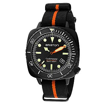 Briston 20644.PBAM.B.35.NBO Automatic Clubmaster Diver Pro Wristwatch Orange