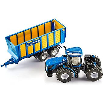 Siku New Holland Tractor With Silage Trailer 1:50 1947