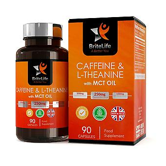 Caffeine, L-Theanine  & MCT (100mg + 250mg + 300mg) 90 Capsules