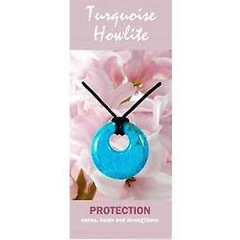 Turquoise Howlite Agogo Necklace Natural Jewellery for Protection