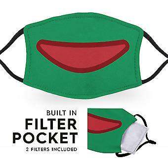 Froggy Mouth - Reusable Childrens Face Masks - 2 Filters Included