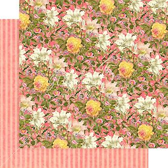 Grafik 45 rosa Lilien 12 x 12 Zoll Papier Pack