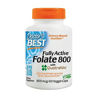 Fully Active Folate 800 with Quatrefolic, 800mcg 60 vegetable capsules