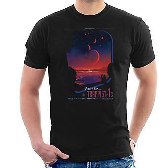 NASA Trappist 1e Interplanetary Travel Poster Men's T-Shirt