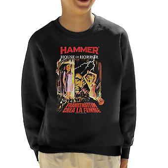 Hammer Frankenstein Crea La Femme Poster Kid's Sweatshirt