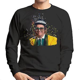TV tider Elton John på Piano 1977 herrarnas Sweatshirt