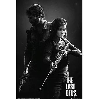 The Last Of Us Poster Zwart-Wit Portrét Joel & Ellie (Remaster Cover Artwork). 91,5 x 61 cm