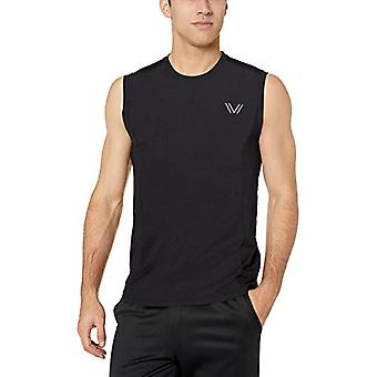 Peak Velocity Men-apos;s VXE Cloud Run Sleeveless Quick-Dry Athletic-Fit Tank, bla...