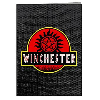 Supernatural Jurassic Park Winchester Greeting Card
