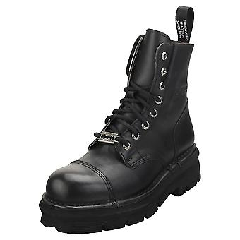 New Rock Military Stylish Boots Unisex Classic Boots in Black