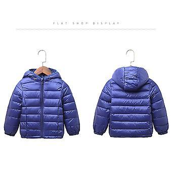 Kids Unisex Hooded Down Padded Puffer Outwear Winter Jacket - Black