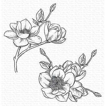 أشيائي المفضلة ماغنوليا أزهار التشبث الطوابع المطاطية
