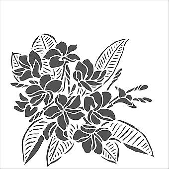 The Crafter's Workshop Plumeria 6x6 Inch Stencil