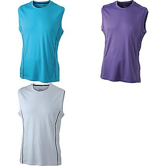 James und Nicholson Mens Running Reflex-Tank-Top