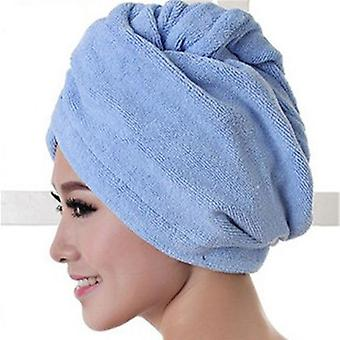 Microfibre Hair Drying Wrap - Womens Girls Lady's Towel Quick Dry Hair Hat Cap & Turban Head Wrap Bathing